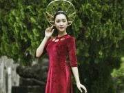 Thời trang - Nàng thơ xứ Huế bất ngờ tái xuất với áo dài dát vàng