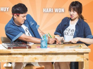Ở hậu trường, Hari Won ra sức tố tật xấu của Ngô Kiến Huy