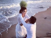 Giải trí - Ảnh cưới lãng mạn của diễn viên Nguyệt Ánh và chồng Ấn Độ