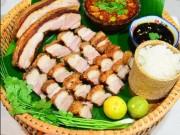 Bếp Eva - Thịt ba chỉ quay bì giòn kiểu Thái này mới ngon