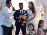 Giải trí - Nguyệt Ánh làm đám cưới lãng mạn trên biển cùng chồng Ấn Độ