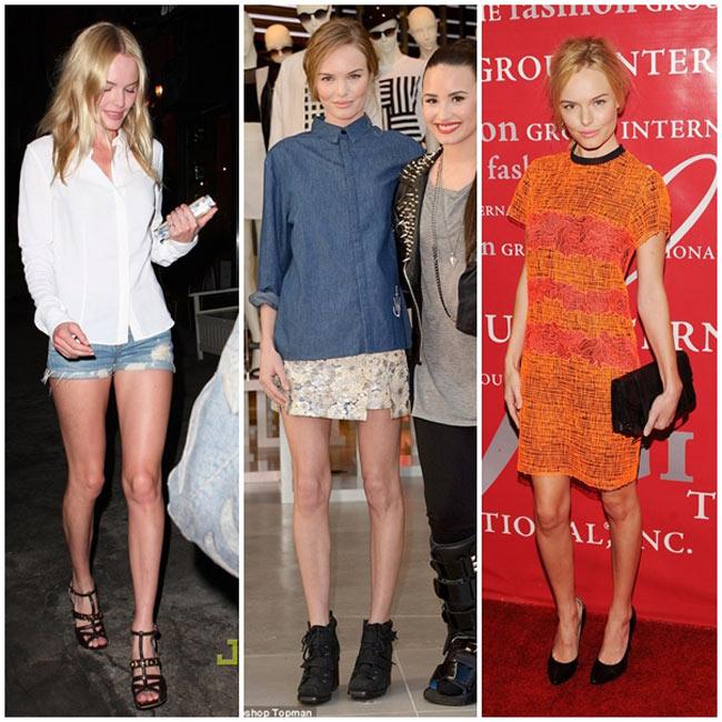 Kate Bosworth sở hữu đôi chân khẳng khiu và không đợc mềm mại.