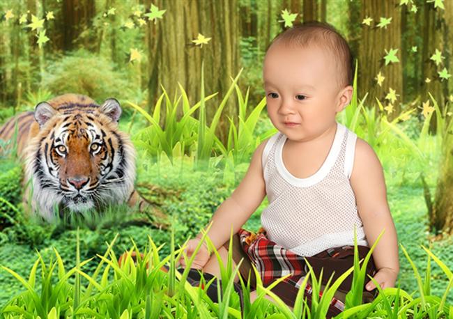 Cậu bé dễ thương trong hình có tên là Nguyễn Lê Gia Thịnh, nick name là Bo Xì, bé sinh ngày 18/8/2011.