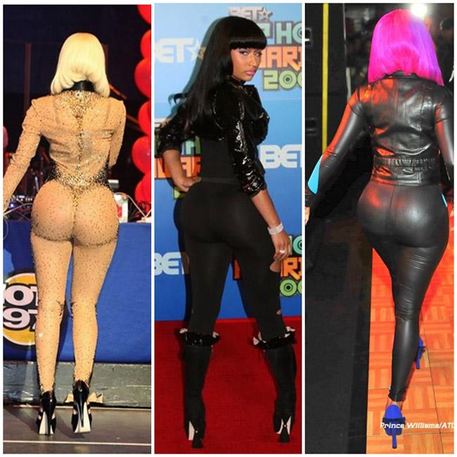 Nữ ca sĩ Nicki Minaj với vòng 3 siêu khủng, thậm chí nó còn bị xem là phản cảm.