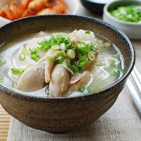 Canh gà nấu kiểu Hàn Quốc