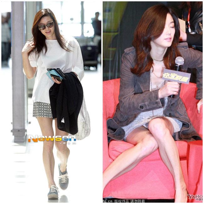 Cô nàng ngổ ngáo Jeon Ji Hyun với đôi chân vừa cong, vừa tong teo.