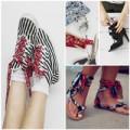 Thời trang - Eva khéo tay: Biến hóa giày xinh cùng vải vụn