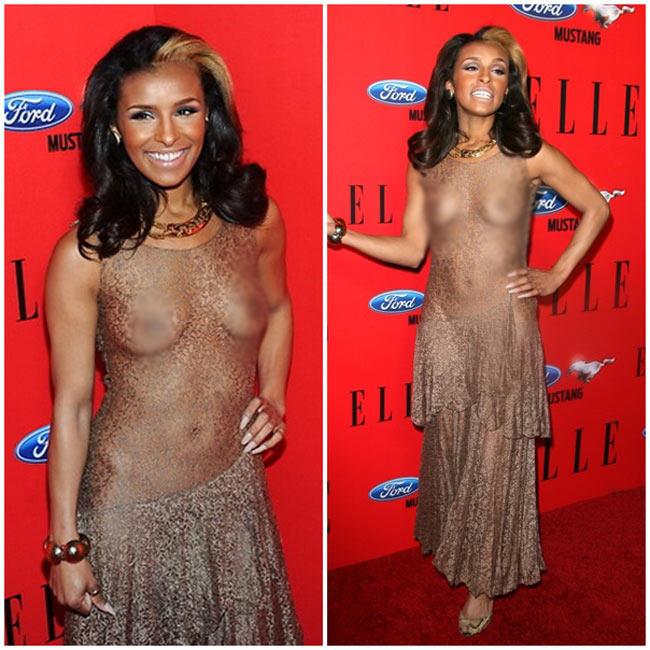 Melody Thornton gây xôn xao sự kiện Elle Women in Music diễn ra vào hồi tháng 4 năm ngoái với bộ đầm xuyên thấu màu nude vô cùng khiêu khích.
