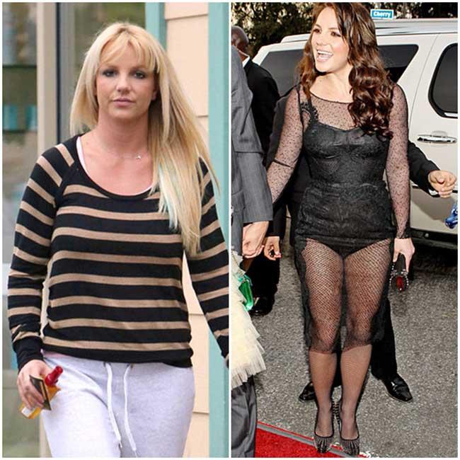 Britney từng có thời gian lao đao vì sandal. Gắn liền với đó là những bộ cánh nổi loạn, luộm thuộm đến khó tin.