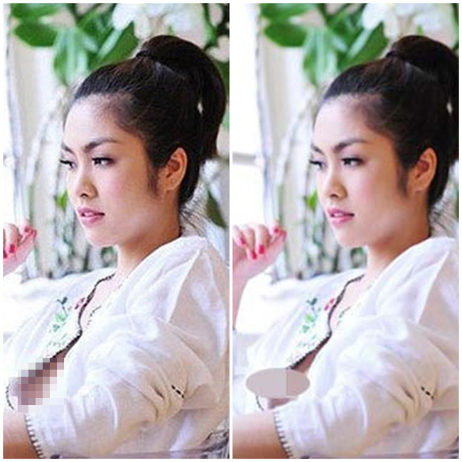 Scandal váy áo 'tày đình' nhất trong quá khứ của Hà Tăng có lẽ là sự cố lộ nhũ hoa trong một shot hình với concept chào đón ánh bình minh.