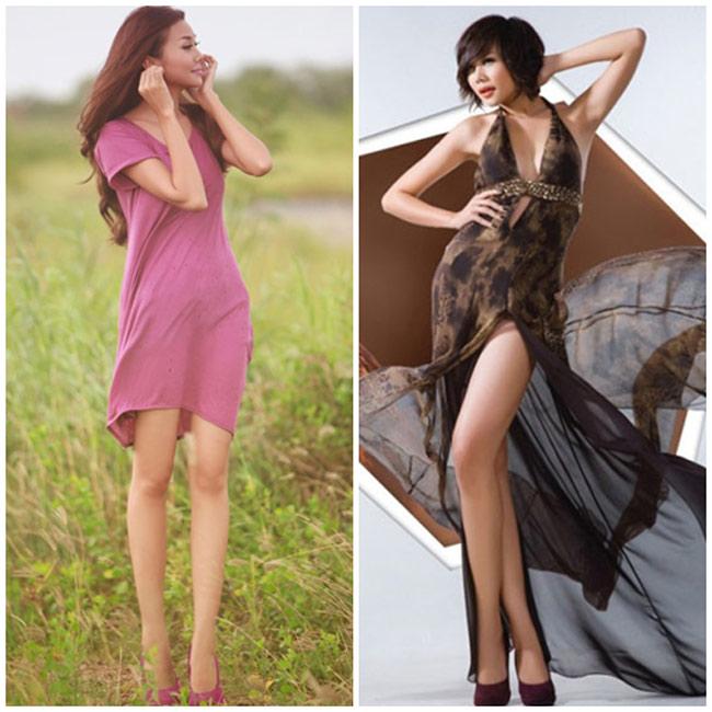 Sở hữu đôi chân dài 1m12, Thanh Hằng đang giữ vị trí đệ nhất chân dài trong giới showbiz Việt.