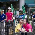 Giải trí - HH Ngọc Hân đạp xe vì môi trường
