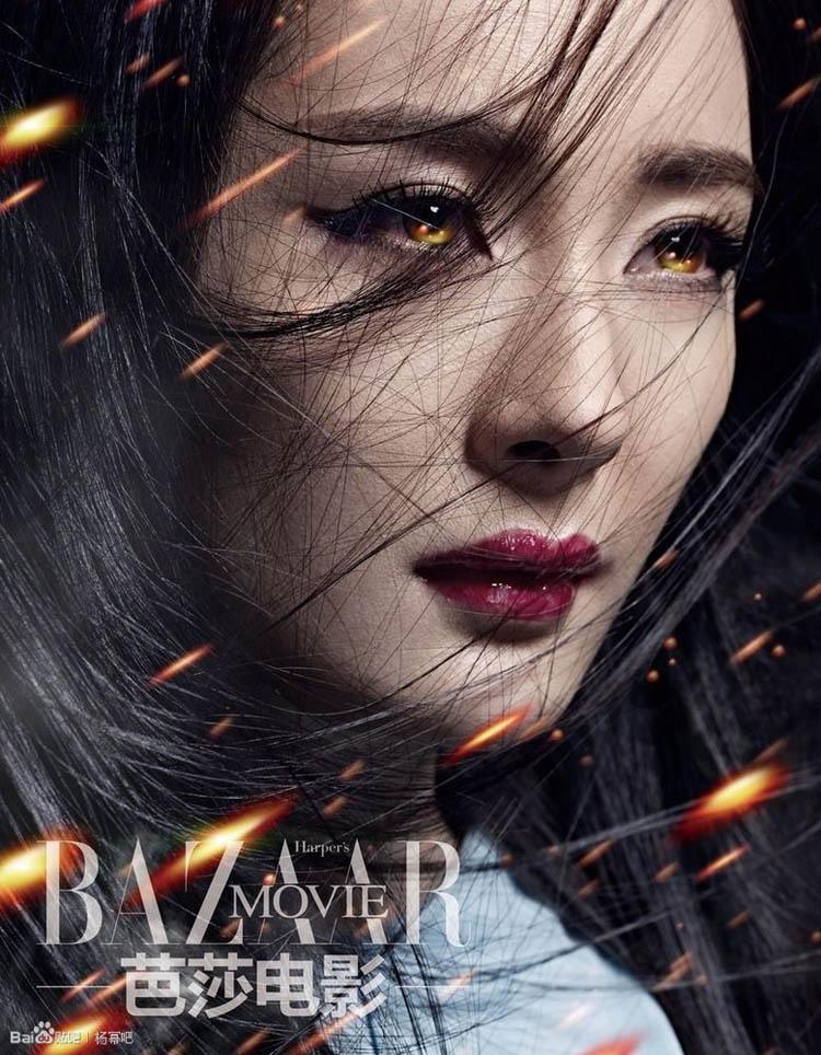 Trên tạp chí Harper's Bazaar Movie số mới nhất, Dương Mịch đã hóa thân thành 1 nữ chiến binh thần thánh.