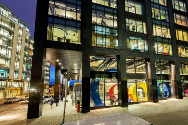 Trụ sở mới của 'Người khổng lồ Google' ở Dublin, Ireland có quy mô hoành tráng cùng thiết kế rực rỡ sắc màu.