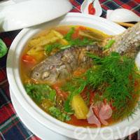 Canh riêu cá chép chua cay cho cuối tuần