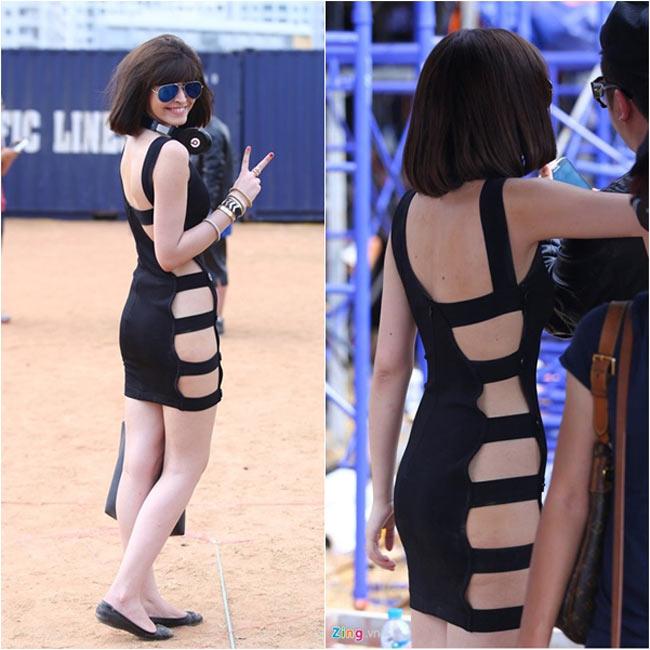 Andrea Aybar khiến cư dân mạng sửng sốt với bộ váy quá thoáng mát,