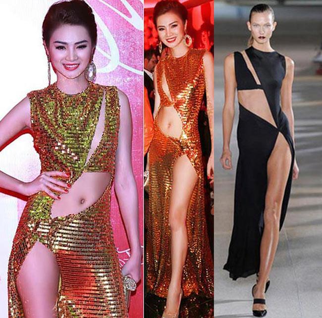 Với hầu hết người Việt thì những bộ đầm khoét hông vẫn là một phong cách quá mới lạ.