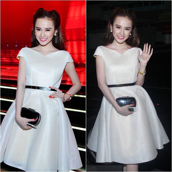 Những bộ đầm trắng thanh lịch giúp Angela Phương Trinh dần lấy lại cảm tình từ phía khán giả.