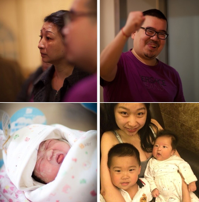 Bộ ảnh sinh mổ này được thực hiện bởi chính người nhà của sản phụ nên những hình ảnh không được lunh linh nhưng với mẹ trẻ người Trung Quốc này thì những hình ảnh đi đẻ chính là cuốn nhật ký rõ nét nhất về những lo lắng, niềm hạnh phúc của cả gia đình trong thời gian chờ bé ra đời.  Cặp vợ chồng người Trung Quốc đã quyết định sinh mổ để đón đứa con thứ hai chào đời. Cũng như ở nhiều bệnh viện tại Việt Nam, người chồng và những người thân không được có mặt trong phòng đẻ.