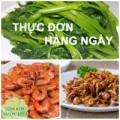 Bếp Eva - Thực đơn: Tôm rim, rau muống luộc