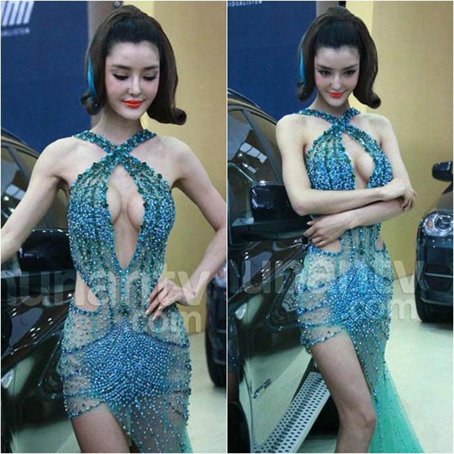 Người mẫu thuộc thế hệ 9X Zhi Liying lại khiến tất cả mọi người nhức mắt với màn khoe vòng một táo bạo.