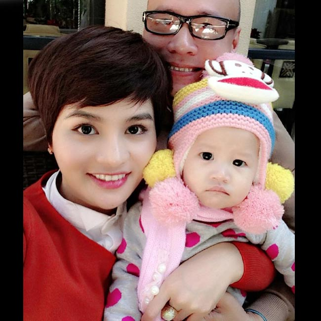 Được biết, chồng Vũ Thu Phương rất cưng chiều con gái.
