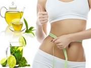 Làm đẹp - Giảm béo bụng nhanh bằng trà xanh và chanh