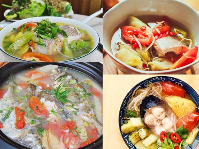 4 món canh cá nấu chua cho ngày hè