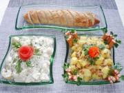 Bếp Eva - Salad khoai tây tươi ngon, hấp dẫn