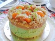 Bếp Eva - Bánh bông lan trứng muối sốt kem
