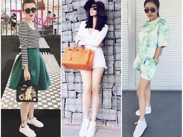 Không ngại bẩn, sao Việt vẫn kết đôi giày trắng