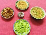 Bếp Eva - Bữa cơm ngon với mực sốt, canh bầu
