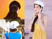 Làm đẹp - Tự tạo 3 kiểu tóc đơn giản, sành điệu để đội mũ bảo hiểm