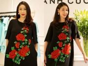 Thời trang - Hà Kiều Anh mặc váy hoa hồng thêu tay 18 triệu đồng