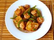 Bếp Eva - Tôm xào đậu phụ đơn giản mà hấp dẫn