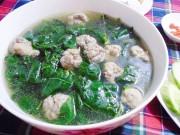 Bếp Eva - Ngon ngọt canh rau ngót nấu mọc