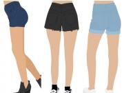 Thời trang - Mẹo vàng chọn quần sooc cho mông lép, mông xệ