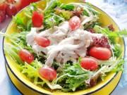 Bếp Eva - Salad ức gà sốt sữa chua ngon mà không béo