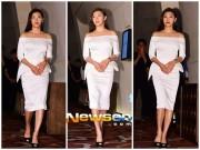 Ha Ji Won diện đầm trắng khoe vai trần nuột nà