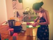 Hương Tràm nấu ăn cho Cao Thái Sơn sau tin đồn kết hôn