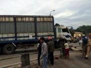 Tin tức - 4 người trong gia đình chết thảm do xe tải lấn đường
