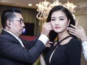 Làng sao - HH Triệu Thị Hà thăm triển lãm kim cương của Lý Nhã Kỳ