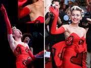 Miley Cyrus tự tin khoe lông nách rậm rạp trên thảm đỏ
