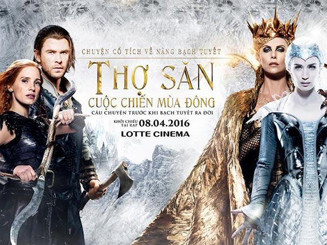 Lịch chiếu phim rạp CGV từ 8/4-14/4: Thợ săn: Cuộc chiến mùa đông