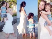 Mẹ con Elly Trần đốn tim fan khi diện váy maxi điệu đà
