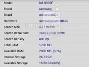 Eva Sành điệu - Phần mềm CPU-Z tiết lộ Galaxy Note 6 dùng màn hình 5,8 inch, 6 GB RAM