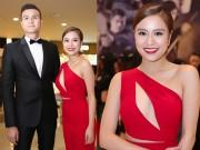 """Hoàng Thùy Linh váy đỏ sexy,  """" kẹp """" chặt Vĩnh Thụy"""