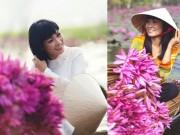 """Làng sao - Phương Thanh mặc áo dài dịu dàng như """"gái quê"""""""