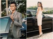 Vĩnh Thụy lái siêu xe đưa Hoàng Thùy Linh đi sự kiện