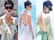 Thời trang - Xuân Lan tự tin khoe lưng trần sexy trước biển